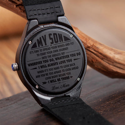SON MOM - SPREAD YOUR WINGS 2 - WOOD WATCH