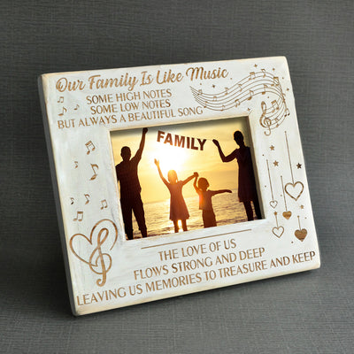 FAMILY - OUR FAMILY IS LIKE MUSIC - WOOD FRAME