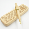 GRANDDAUGHTER GRANDMA - SPREAD YOUR WINGS - ENGRAVED WOOD PEN CASE