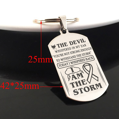 BREAST CANCER WARRIOR - I AM THE STORM - KEY CHAIN