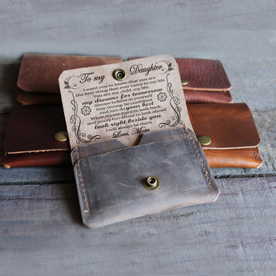 DAUGHTER MOM - BELIEVE IN YOURSELF - LEATHER WALLET