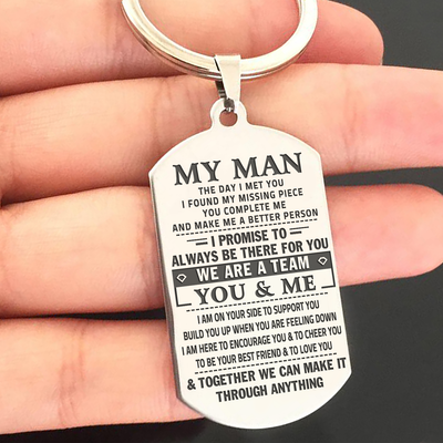 MY MAN - WE ARE A TEAM - KEY CHAIN 1