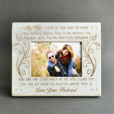WIFE HUSBAND - YOU ARE MY HOME - WOOD FRAME