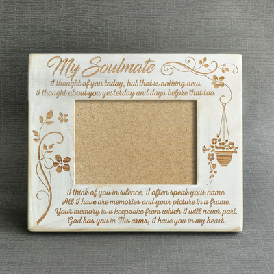 SOULMATE - IN MY HEART - WOOD FRAME