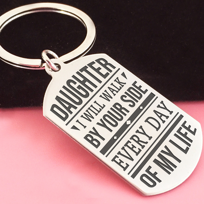 DAUGHTER - BY YOUR SIDE - KEY CHAIN 1