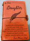 DAUGHTER MUM & DAD - ENJOY THE RIDE - VINTAGE JOURNAL