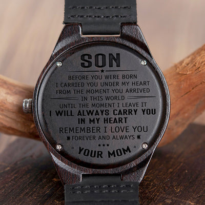 SON MOM - ALWAYS CARRY YOU - WOOD WATCH