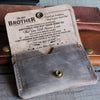 SISTER BROTHER - NEVER LOSE - LEATHER WALLET