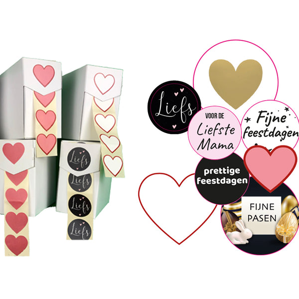 Assortiment Cadeau stickers Etikon
