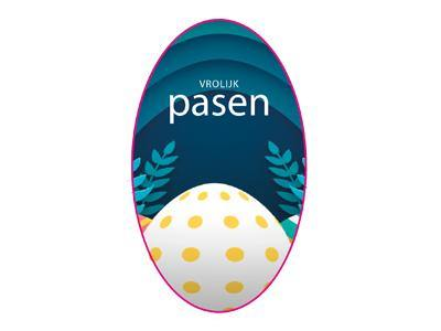 Pasen stickers ovaal 50x30mm | Etikon