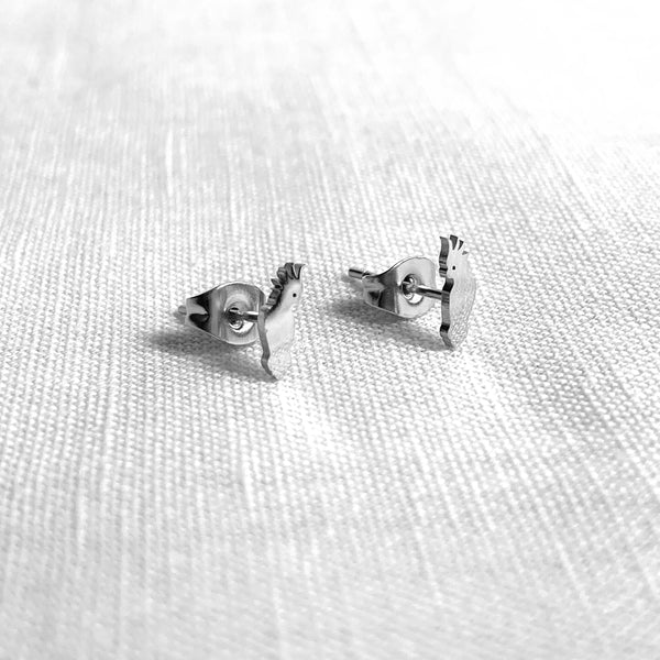 Cockatoo Earring Studs Silver