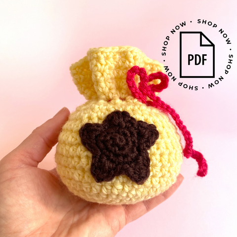 Animal Crossing Bell Bag Crochet Pattern PDF Digital Download