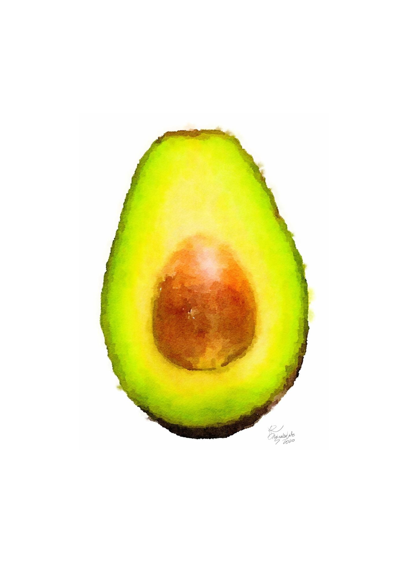 Avocado Digital Print