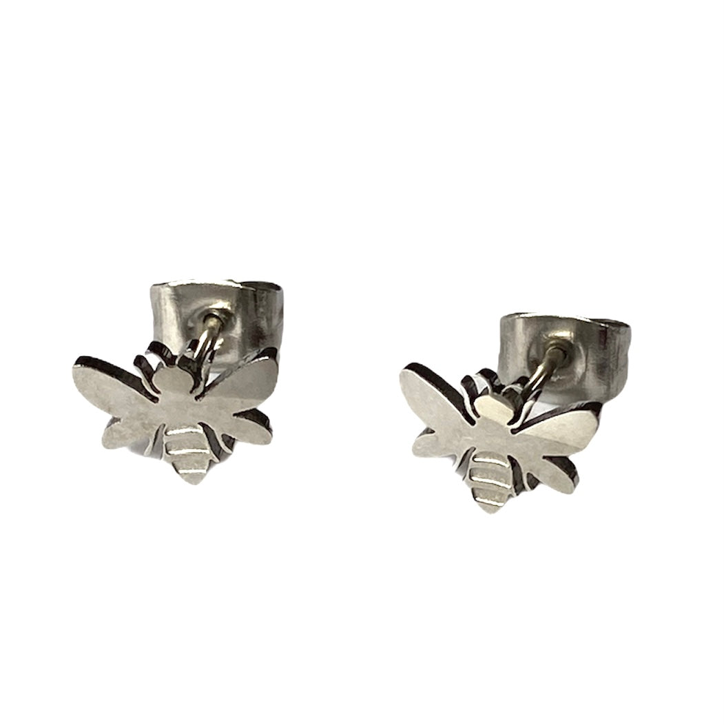 Bee Studs Silver