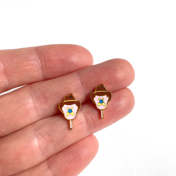 Bubble O Bill 18K Gold Plated Earrings