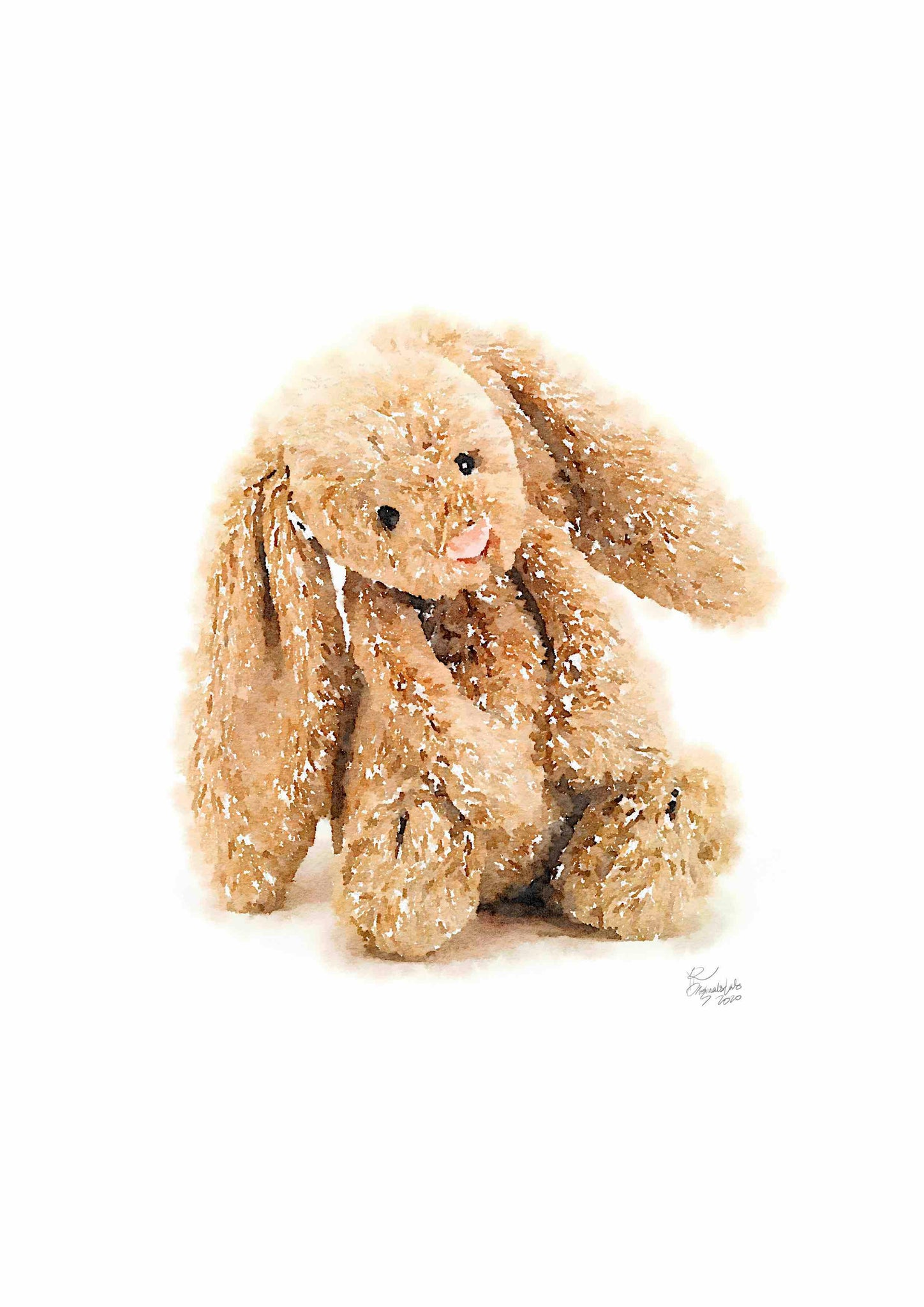Jellycat Rabbit Digital Print