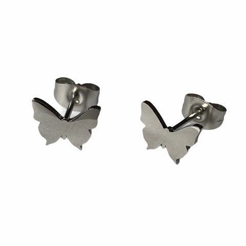 Butterfly Studs Silver
