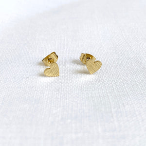 Be My Valentine Studs Gold