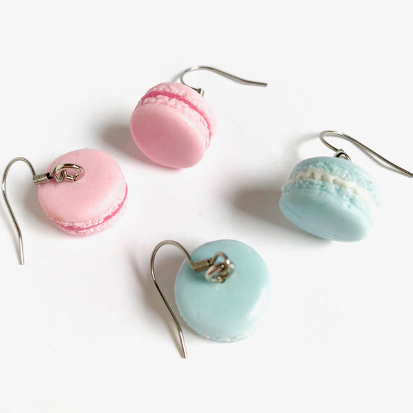 Tiffany Blue or Pink Macaron Earrings