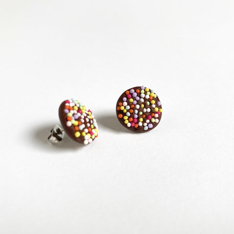 ALLENS Chocolate Freckle Stud Earrings