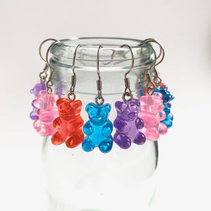 Gummy Bear Dangly Earrings