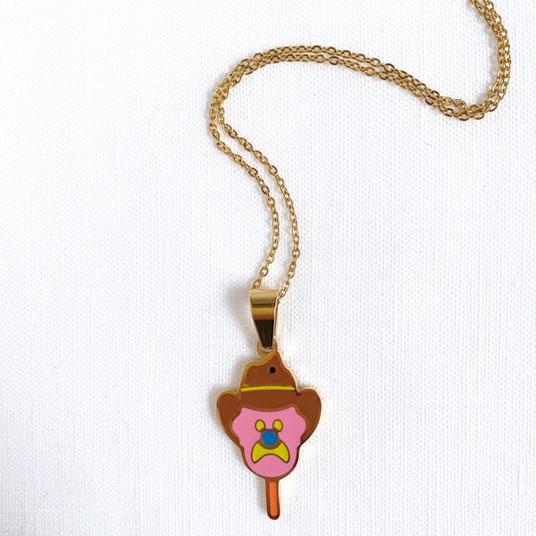 Bubble O Bill Enamel Pendant with 18K Gold Plated Chain