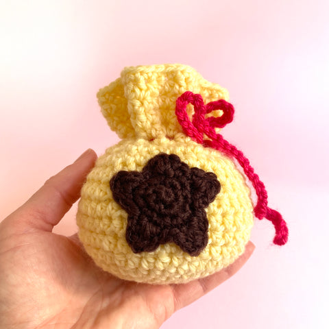 Bell Bag from Animal Crossing. Crochet Pattern PDF Digital Download