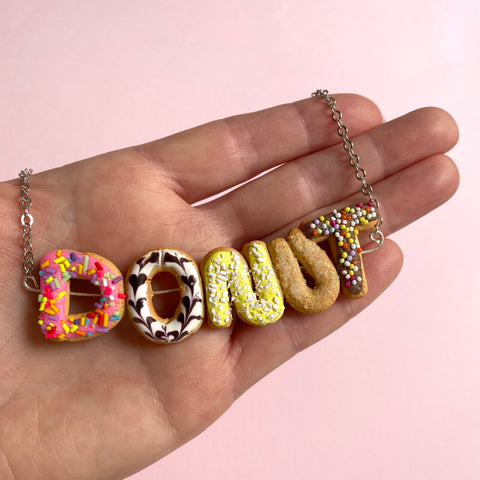 Custom Name Donut Necklace - Choose your Name