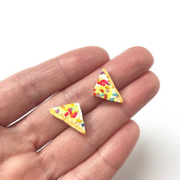 Classic Australian Fairy Bread Earrings with Stainless Steel Studs