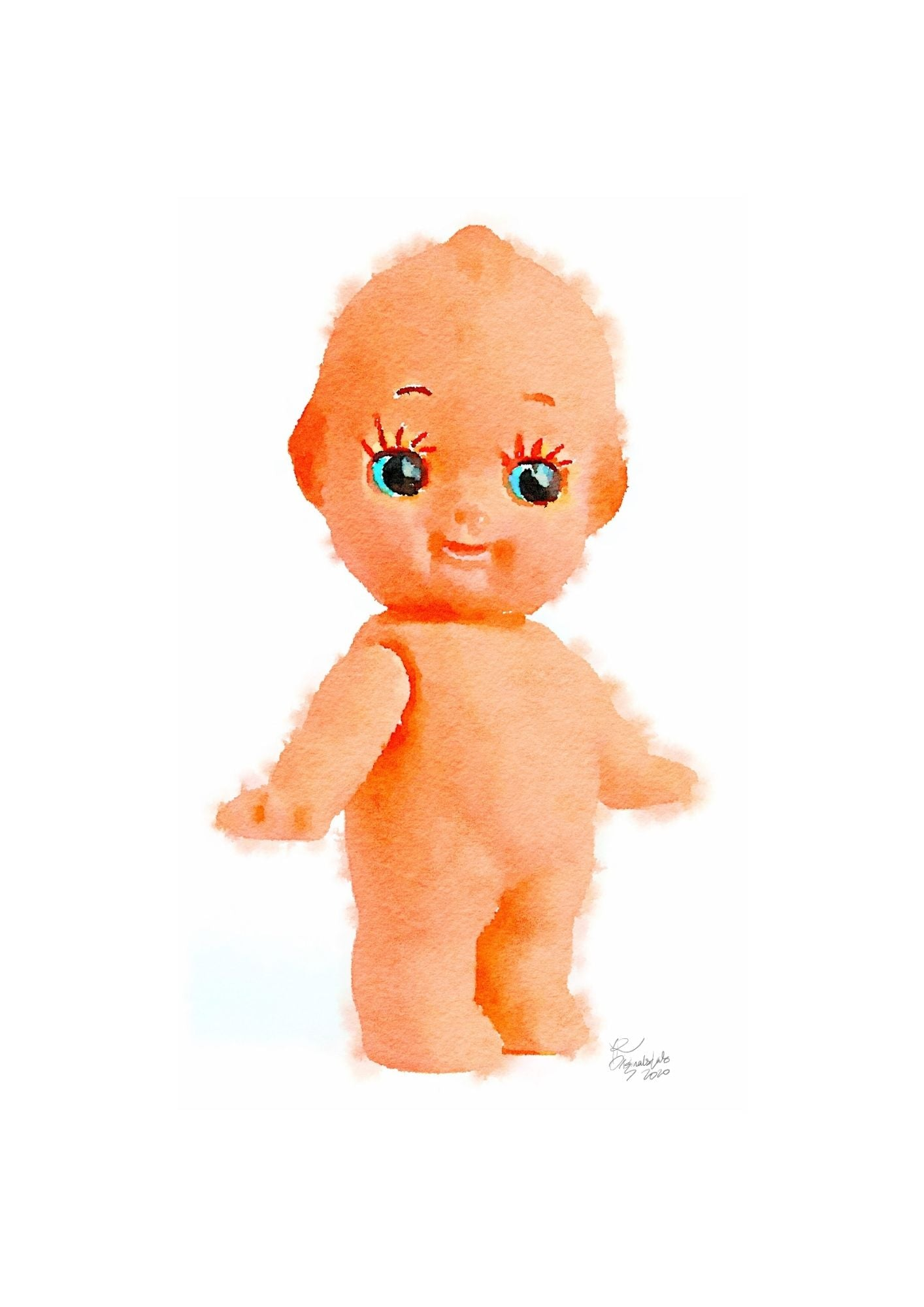 Kewpie Doll Digital Print