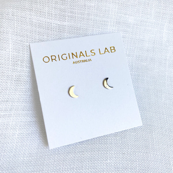 Moon Studs Silver