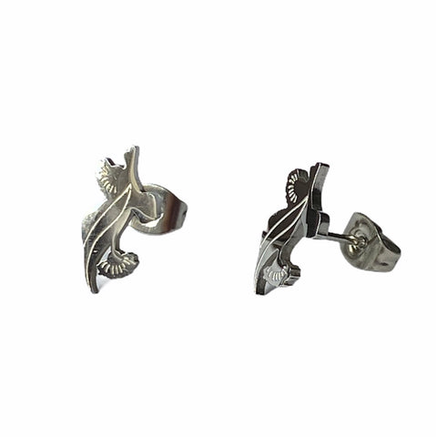 Eucalyptus Flower and Leaf Studs Silver