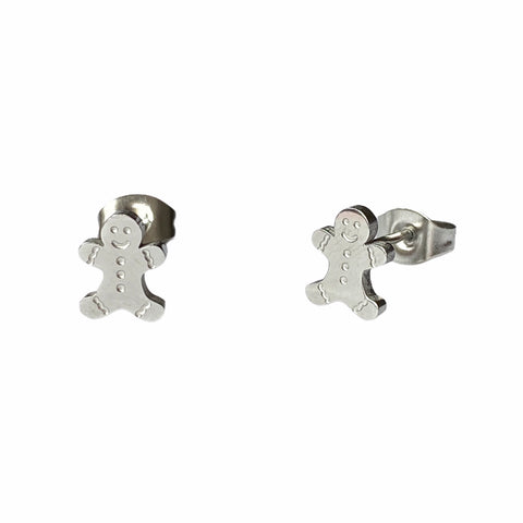Gingerbread Studs Silver