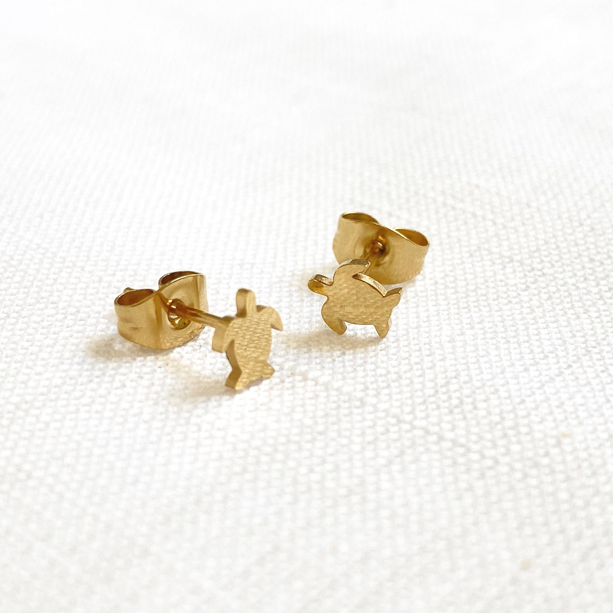 Turtle Earring Studs Gold