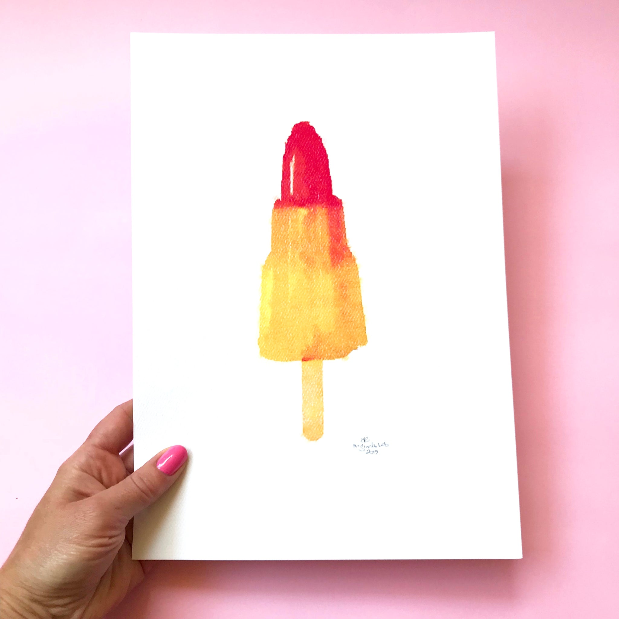 Rocket Icy Lolly Digital Print.  Designed in Australia