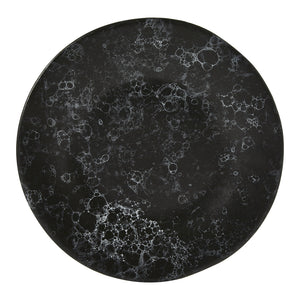 Noelle Side Plate Small, Black Marble Effect Stoneware