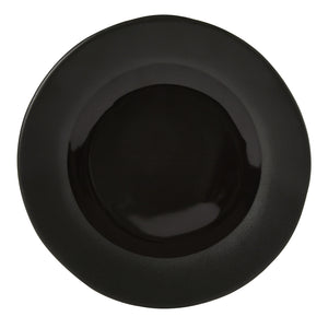 Noelle Side Plate, Black Two-Tone Stoneware