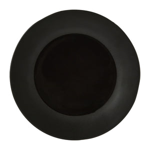 Noelle Dinner Plate, Two-Tone Black Stoneware