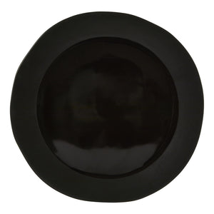 Noelle Pizza Plate, Black Two-Tone Stoneware