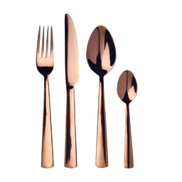 Priya 16pc Cutlery Set, Rose Gold / Stainless Steel