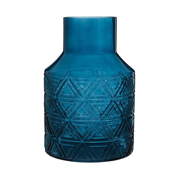Kelly Glass Vase, Blue