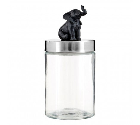 Elephant Glass Jar