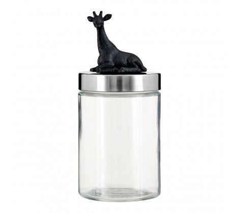 Giraffe Glass Jar