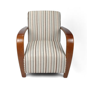 Sammy Chenille Stripe Armchair, Duck Egg Blue