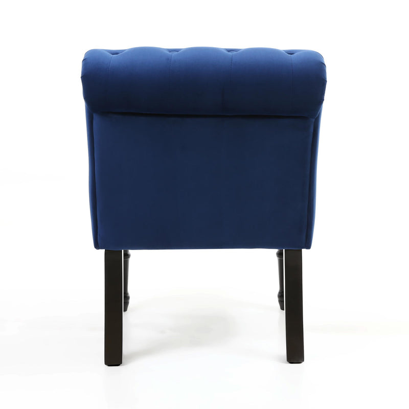 Jada Brushed Velvet Accent Chair, Navy Blue