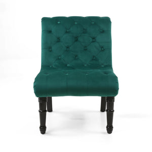 Jada Brushed Velvet Accent Chair, Sea Green