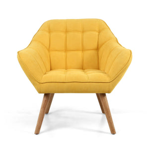 Dora Studio Chair, Yolk Yellow