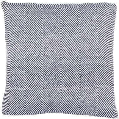 Navy Chevron Square feather filled Cushion (Recycled Material)