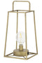 Alma LED Table Lamp, Antique Brass