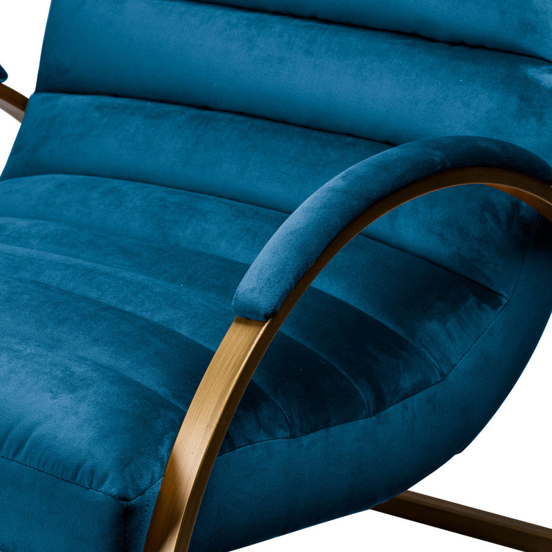 Lola Ribbed Arm Chair, Navy Blue